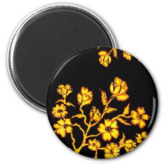 Golden Sakura Art 2 Magnet