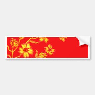 Golden Sakura Art 3 Bumper Sticker