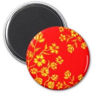 Golden Sakura Art 3 Magnet