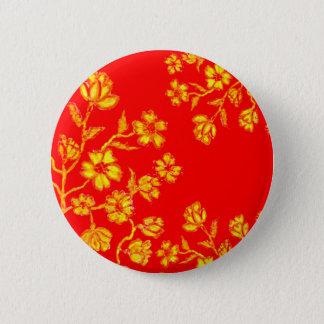 Golden Sakura Art 3 Pinback Button