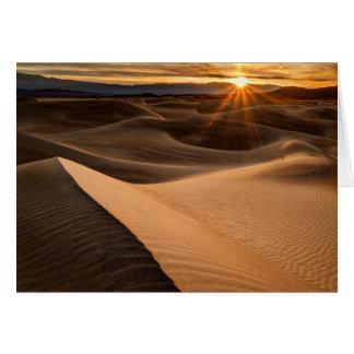 Golden Sand dunes, Death Valley, CA Card