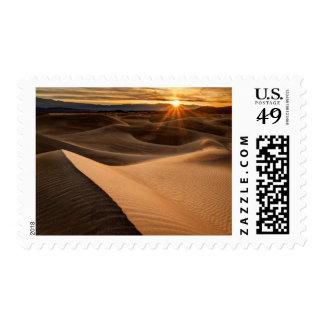 Golden Sand dunes, Death Valley, CA Postage