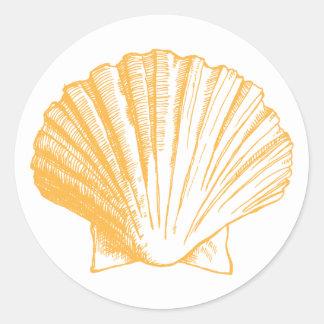 Golden Sand Sea Shell Sticker