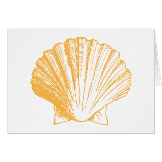 Golden Sand Sea Shell Thank You Note Cards