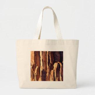 golden sandstone pillars large tote bag