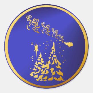 Golden Santa Sticker