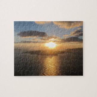 Golden Santorini Sunset Jigsaw Puzzle