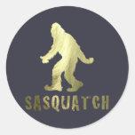 Golden Sasquatch Classic Round Sticker