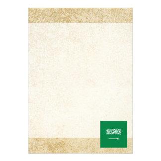 Golden Saudi Arabia Flag Card