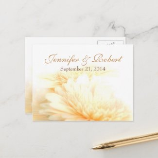 Golden Save the Date Postcard
