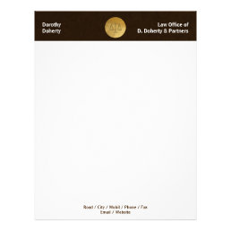 Golden Scales of Justice | LAW OFFICE Letterhead