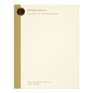 Golden Scales of Justice LAW OFFICE Letterhead