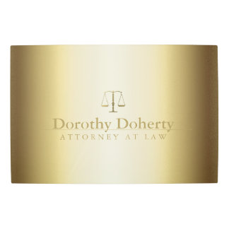 Golden Scales of Justice | Law Office Metal Print