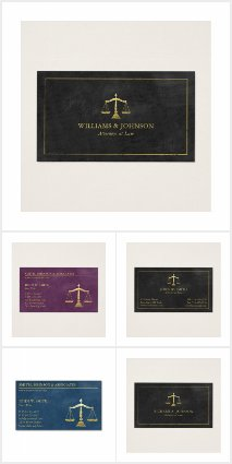 Golden Scales Of Justice Lawyer Business Cards