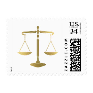 Golden Scales of Justice | Lawyer Postage