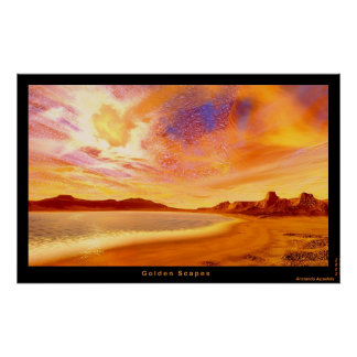 Golden Scapes Poster