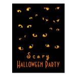Golden Scary Eyes Postcard Invite