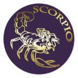 GOLDEN SCORPIO CLASSIC ROUND STICKER