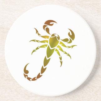 Golden Scorpion Drink Coaster