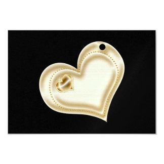 Golden Scrapbook Heart Card