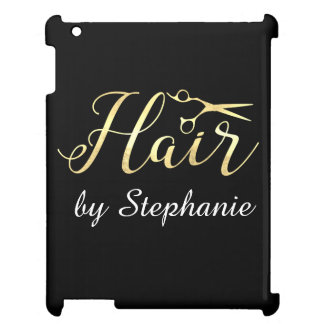 Golden Script Scissors Hairstylist Hair Salon Cover For The iPad