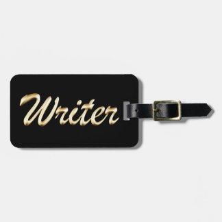Golden Script Writer Bag Tag