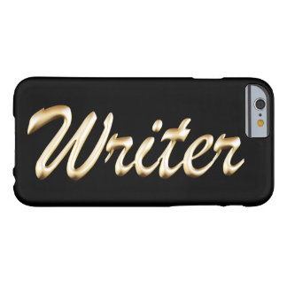 Golden Script Writer Barely There iPhone 6 Case