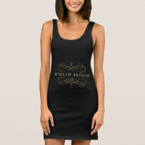 Golden Scroll Maid of Honor Sleeveless Dress