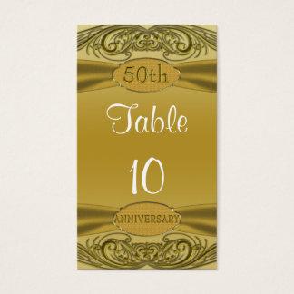 Golden Scrolls 50th Wedding Anniversary Business Card