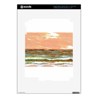 Golden Sea CricketDiane Ocean Waves Art Decal For iPad 3