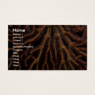Golden sea fan business card
