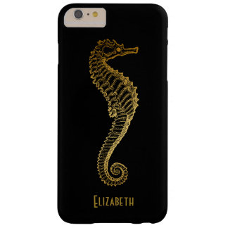 Golden Seahorse Phone Case Barely There iPhone 6 Plus Case