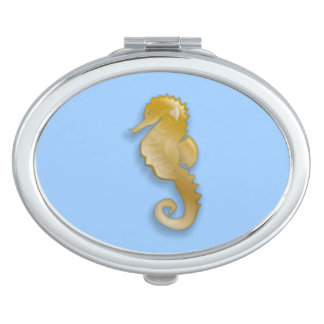 Golden Seahorse Vanity Mirror