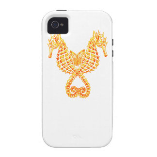 Golden Seahorses Case For The iPhone 4