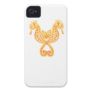 Golden Seahorses iPhone 4 Cover
