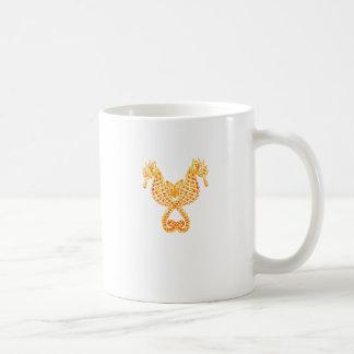 Golden Seahorses Classic White Coffee Mug