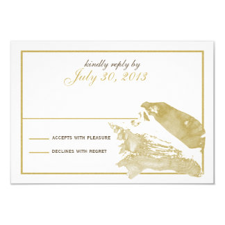 Golden Seashell Response Card