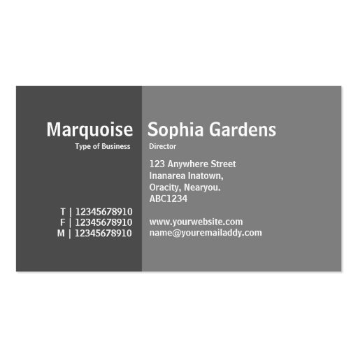 Golden Section 07 Double-Sided Standard Business Cards (Pack Of 100)