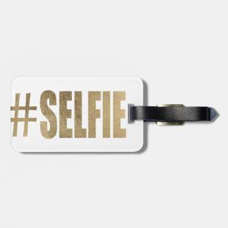 Golden Selfie Bag Tag