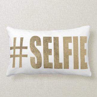 Golden Selfie Lumbar Pillow