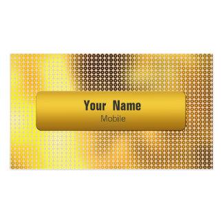 Golden Sequin Business Card