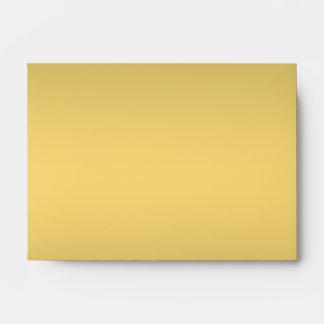 Golden shade elegant A6 envelopes