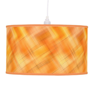 Golden Shades Of Plaid Pendant Lamp