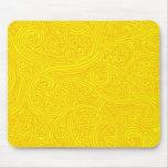 Golden Sharpie Swirls Mouse Pad