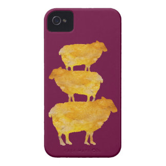 Golden Sheep Stack iPhone 4 Cover