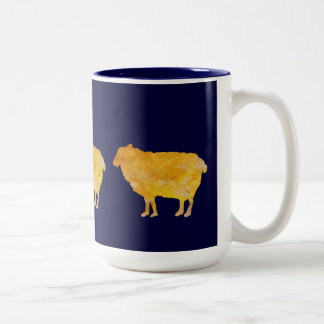 Golden Sheep Two-Tone Coffee Mug