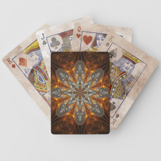 Golden shield playing cards
