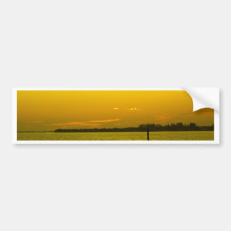 Golden shimmer bumper sticker