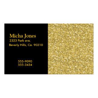 Golden Shimmer Glitter Business Card Template