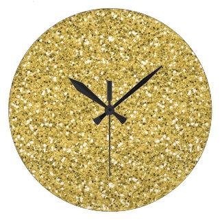 Golden Shimmer Glitter Clocks